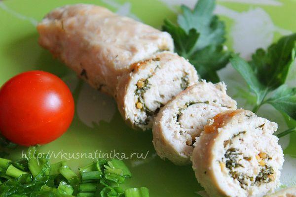 Закуска из куриного филе с зеленью